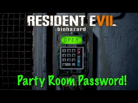 RE7 - Party Room Password  - Testing Area 1F Code - Resident Evil 7
