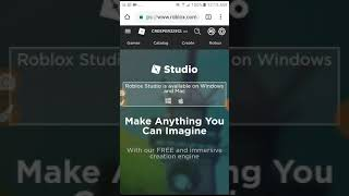 How to use roblox studio on android 🐱🐓