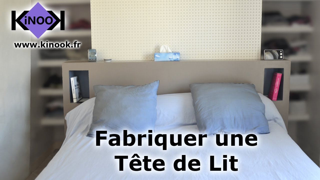 fabriquer une t te de lit youtube. Black Bedroom Furniture Sets. Home Design Ideas