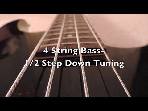 4 string bass-1/2 step down tuning (hd)