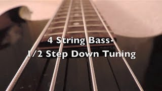 4 string bass 1 2 step down tuning hd