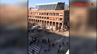 Helsingborg-Djurgården slagsmål stortorget