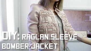 DIY Raglan Sleeve Lace Bomber Jacket
