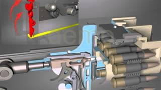 пулемет Максим заряжание-разряжание