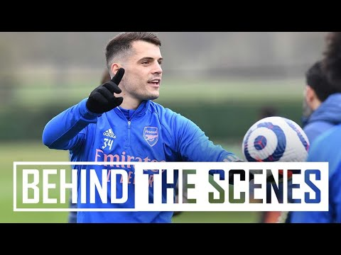 Hard work, drills & a sweet finish from Partey | Behind the scenes at Arsenal training centre