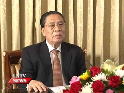 Lao NEWS on LNTV: President Choummaly Sayasone offers keynote remark on 60th LPRP.23/3/2015