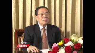 VO Party Secretary General and President of Laos Comrade Choummaly ...