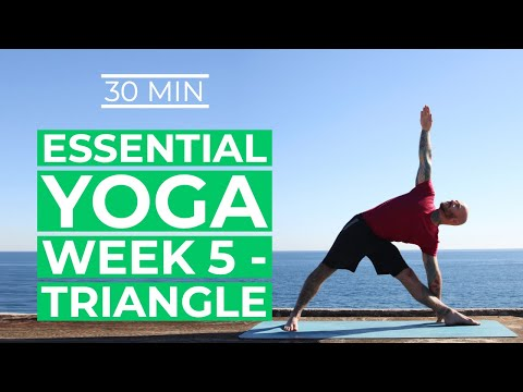 yoga for beginners yoga essentials week 5 triangle for