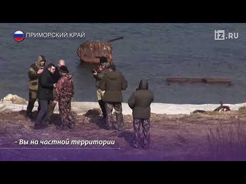 На журналистов РЕН ТВ напали во время съемки сюжета о «китов