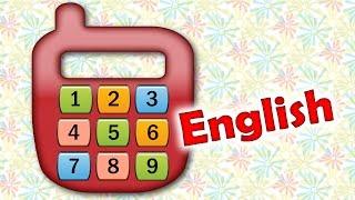 Английский для детей - учимся считать от 1 до 9 - учим цифры. Learn to count to 9 - learning numbers(Английская версия нашего мультика про телефон. Теперь малыши смогут научиться считать до девяти на английс..., 2014-05-06T21:55:56.000Z)
