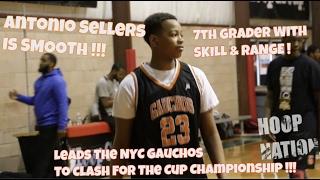 7th Grade Antonio Sellers Of The NYC Gauchos Is TOO SMOOTH - SKILL & RANGE ! - Bballspotlight
