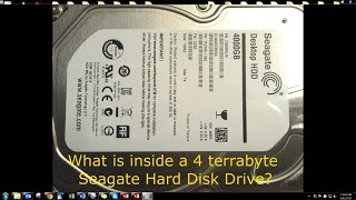 What's inside a Seagate 4 Terabyte Hard Disk Drive
