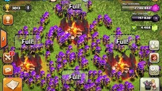 clash of clans - high level attack strategy 240 archer lvl 7