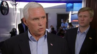 Pence holds news conference after meeting with Harvey survivors and surveying damage