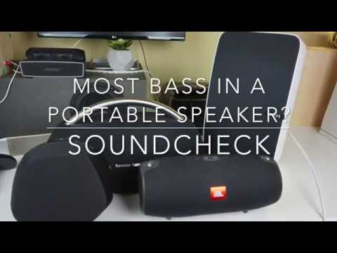 Most bass in a portable speaker? - Soundcheck...