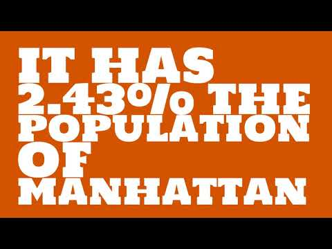 How does the population of Columbus, IN compare to Manhattan?