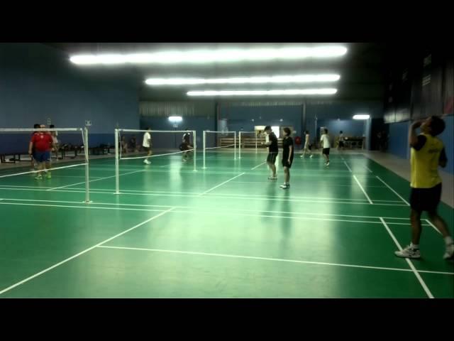 wajid  and khalid badminton game kualalumpur