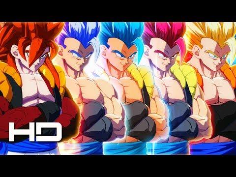 Dragon Ball FighterZ - All Gogeta Transformations (Super Gogeta-God-Blue-Ultra Instinct & SSJ4)