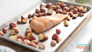 Arugula with Roasted Salmon and New Potatoes  Everyday Food with Sarah Carey