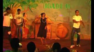 ringa ringa song dance by pu telugu students.avi