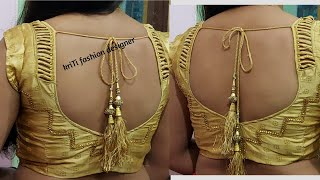 Very beautiful new letest back neck blouse design cutting and stitching very easy method