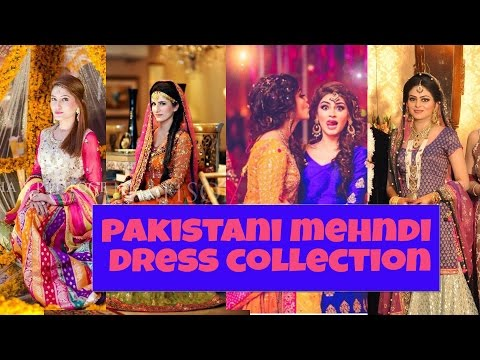PAKISTANI MEHNDI DRESS DESIGN COLLECTIONS