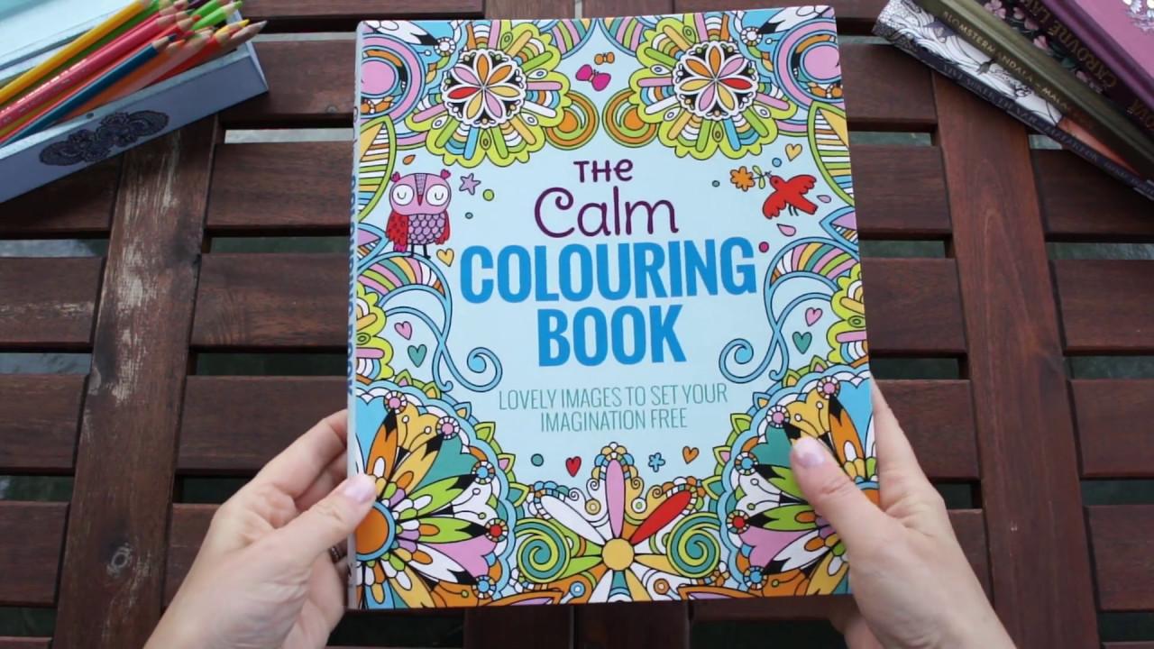The Calm Colouring Book Flip Through Youtube