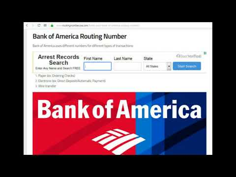 find my routing number bank of america app