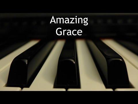 Amazing Grace - piano hymn with lyrics