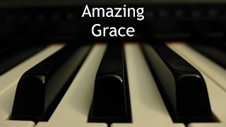 Amazing Grace - piano hymn with lyrics