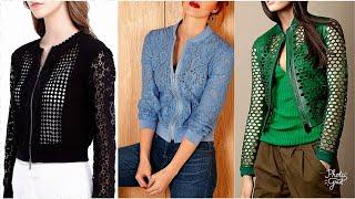 Most Desirable Crochet Bomber Jackets and Stunning Cardigan zip front zipper