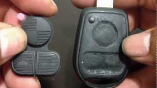 How To Replacet 3 Buttons Rubber Key Pad 97-03 BMW E38 E39 E36 Z3 Z4 Z8 X3 X5t 5 SERIES M5