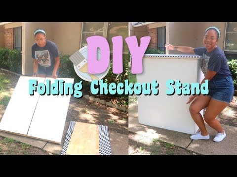 DIY Folding Craft Show Checkout Stand