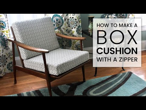 how to make a box cushion with a zipper youtube. Black Bedroom Furniture Sets. Home Design Ideas