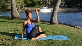 Seated spinal twist or Half lord of the fishes (Ardha matsyendrasana)