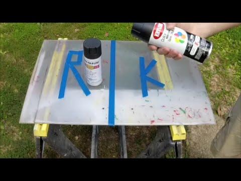 Rustoleum Semi Flat Spray Paint