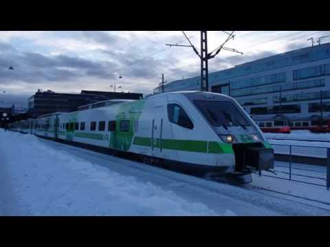 フィンランド国鉄ペンドリーノ ヘルシンキ中央駅発車 VR Pendolino Train