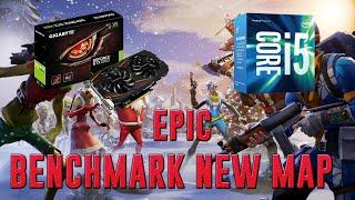 Fortnite: Battle Royale New Map 2019 Benchmark | GTX 1060 3GB + I5-7400 + 8 GB Ram | Epic - 1080p
