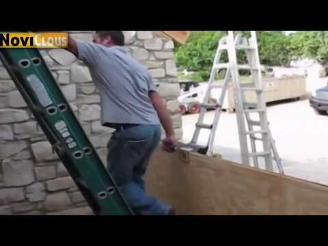 NOVICLOUS:  Démonstration Poignée lève panneau ossature bois