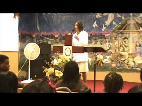 Co-Pastor Sandra Washington preaching