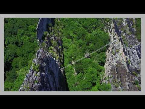 West Virginia NROCKS Via Ferrata drone video June 2017