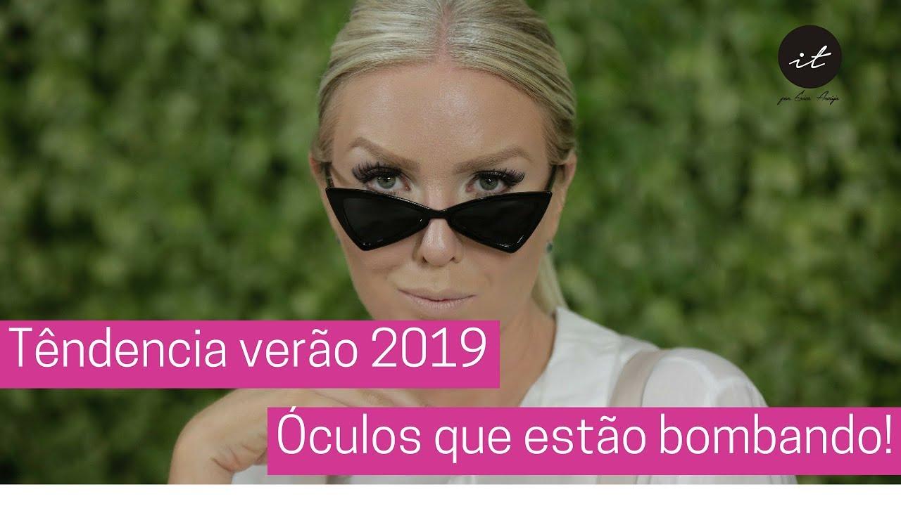 Tendência verão 2019 - Óculos que estão bombando na temporada! - YouTube 402b479842
