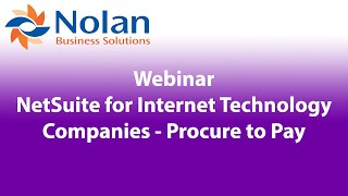 NetSuite for Internet Technology Companies – Procure to Pay