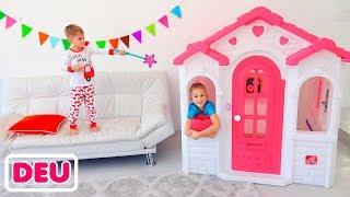 Kinderzauber verwandeln Spielzeugautos von Vlad und Nikita