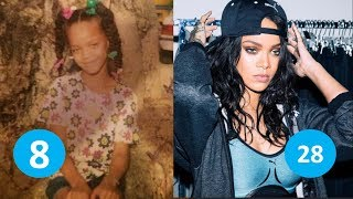 Rihanna before and after | From 1 to 29 years old