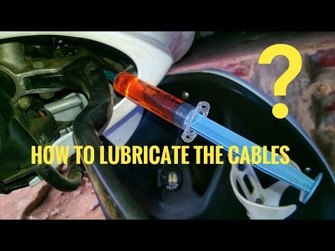 How to lubricate the cables ?DIY MD garage