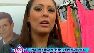 Karla Tarazona y Christian Dominguez se lavan las manos tras patinada