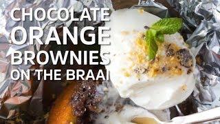 Chocolate Orange Brownies on the Braai