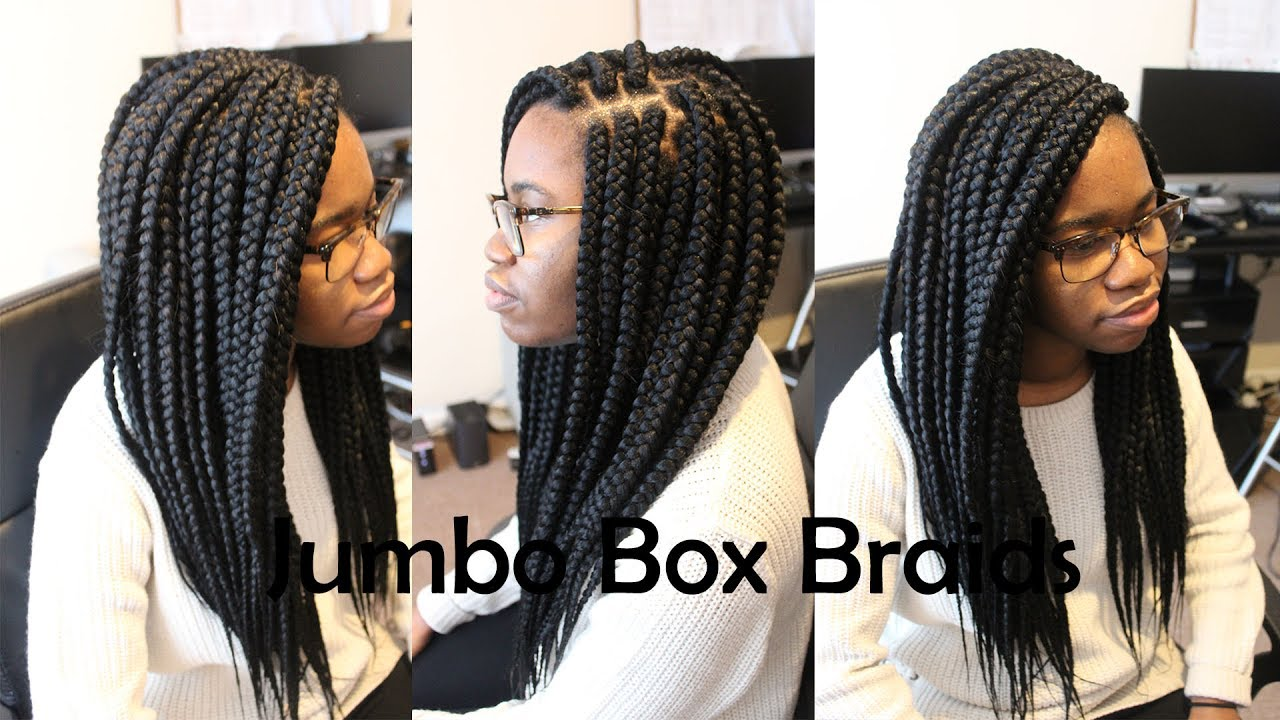 Jumbo Large Box Braids Tutorial How To Youtube