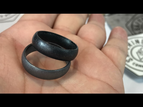Metallic Silicone Wedding Rings By SafeRingz And Made In The USA